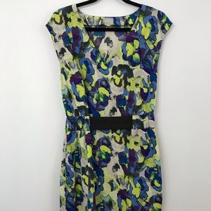 Floral Mini Dress Purple and Green by Rachel Roy